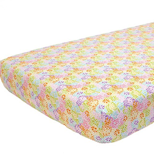 Nurture Crazy Daisy Fitted Crib Sheet - 1