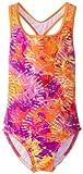 Speedo Big Girls  Rainforest Tie Dye Keyhole One-Piece Swimsuit