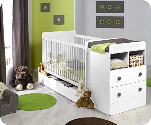 Mitwachsendes Babybett Malte weiß