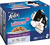 Felix As Good as It Looks Kitten, Meat & Fish Selection in Jelly - Pouch (12x100g)