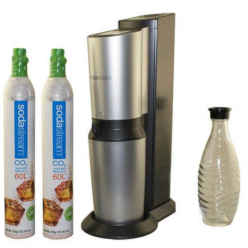SodaStream Crystal Home Soda Maker and 2nd 60-Liter Carbonator-Spare Cylinder (Soda Cylinder compare prices)