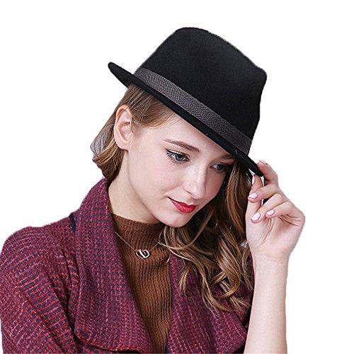 chapeau-casquette-fedora-trilby-jazz-borsalino-vintage-retro-feutre-femme-homme-filles-hiver-noir
