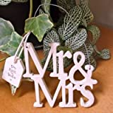 East of India - Mr and Mrs Wooden Cut Out Sign