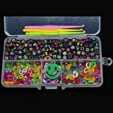 Toy - 200pcs Alphabet Perlen 100 St�ck S / C-Clips 10 Charms drei Haken ein Box-Set Fit Gummib�nder