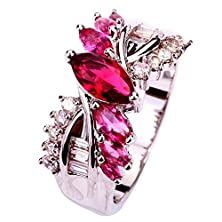 buy Yazilind Jewelry Silver Plated Crystal Engagement Ring Wedding Gift For Women Size6