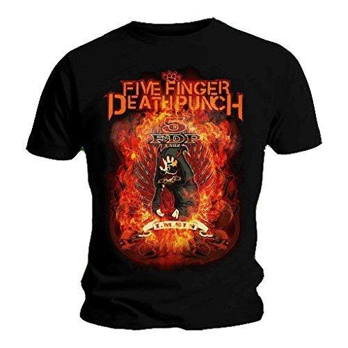 Maglietta ufficiale Five Finger Death Punch, per bruciare I am Sin tutte le misure Nero  nero