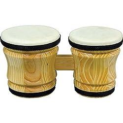 Rhythm Band Bongo Hardwood Drum - Medium - 6 x 5 x 6 inches