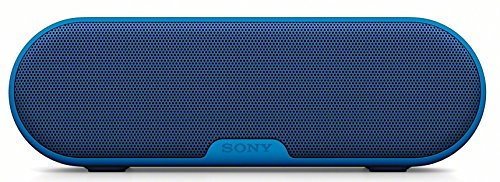 Sony SRS-XB2 Altoparlante Wireless Portatile, Extra Bass, Bluetooth, NFC, Resistente all'Acqua, Blu