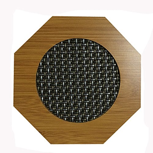 Cute Moso Bamboo Place Mat/ Cup Mat/ Pot Holder, Octagon, Set of 4