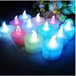 Aimeart LED Candle Funny Wedding Party Night Show Flashlight, Assorted, 12ps