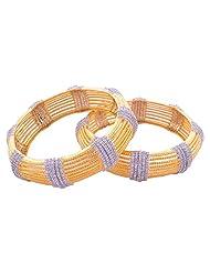 Goonj The Rhythm Of Jewels Fancy CZ Bangles For Women B77 (Size 2.6)