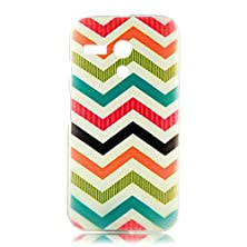 buy Mollycoocle Fashion Style Transparent Painted Pc Phone Back Cover With Multi-Colored Waves Vein Pattern For Moto G