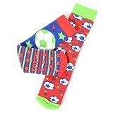 Totes Boys Slipper Socks (Twin Pack) (3 - 6 Years, Football)