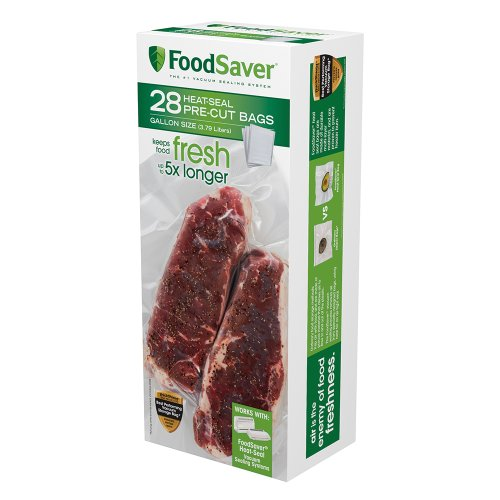 FoodSaver 28 Gallon-sized Bags with unique multi layer construction, BPA free (Foodsaver 1 Gallon Bags compare prices)