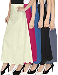 Ngt Pure Cotton Black, White, Rani Pink, Grey And Royal Blue Petticoat/Underskirt For Womens.