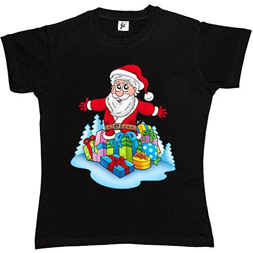 st-nick-et-un-tas-de-cadeaux-de-noel-cadeaux-t-shirt-manches-courtes-en-coton-pour-femme-tailles-xs-