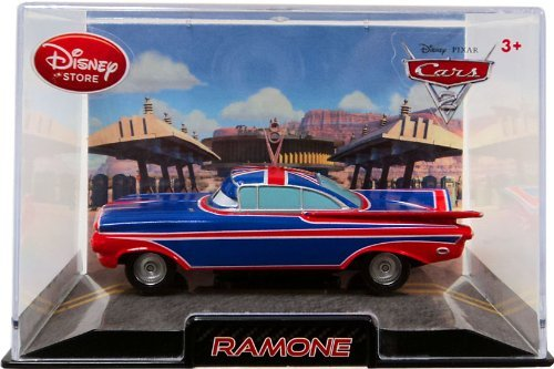 Disney / Pixar CARS 2 Movie Exclusive 148 Die Cast Car In Plastic Case Ramone UK Flag Paint Job