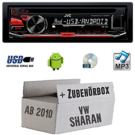 VW Sharan 2 7N - JVC KD-R471E - CD/MP3/USB Autoradio - Einbauset