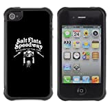 ZAKO CASE - Sel Appartements Speedway moto motard - Apple Iphone 4 / 4S - Coque Housse Etui Shock-Absorption Back Cover Slim Rugged A -...