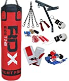 Authentic RDX 13 Piece Pro Boxing Set 4ft/5ft Punch Bag,Gloves,Bracket,Chains MMA Punching UFC