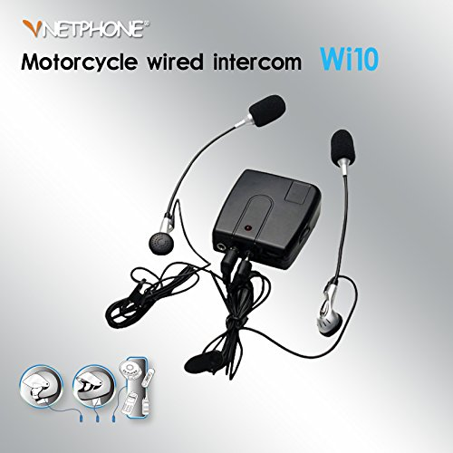 Pawaca Black Hands Free Helmet Communication Motorcycle Wired Intercom Speaker Wi10