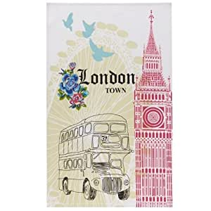 Ulster Weavers London Cotton Tea Towel With Hanging Loop Home Kitchen