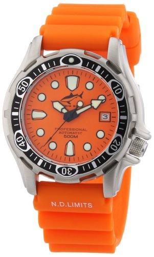 Chris Benz - CB-500-O-KBO - Montre Mixte - Automatique - Analogique - Aiguilles lumineuses - Bracelet Caoutchouc Orange