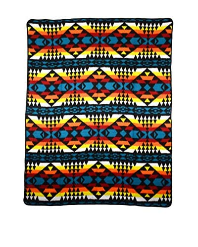 Uptown Down Camp Blanket, Turquoise/Yellow As You See