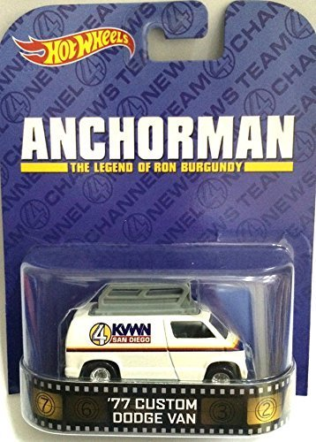 Hot Wheels Anchorman '77 Custom Dodge Van Retro Series 1/64 Die Cast - 1