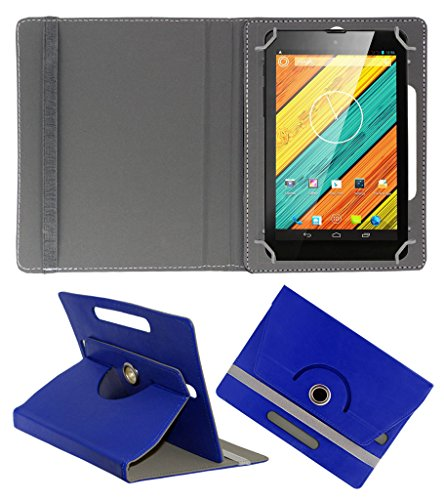 Acm Rotating 360° Leather Flip Case For Digiflip Pro Xt712 Tab Tablet Cover Stand Dark Blue  available at amazon for Rs.149