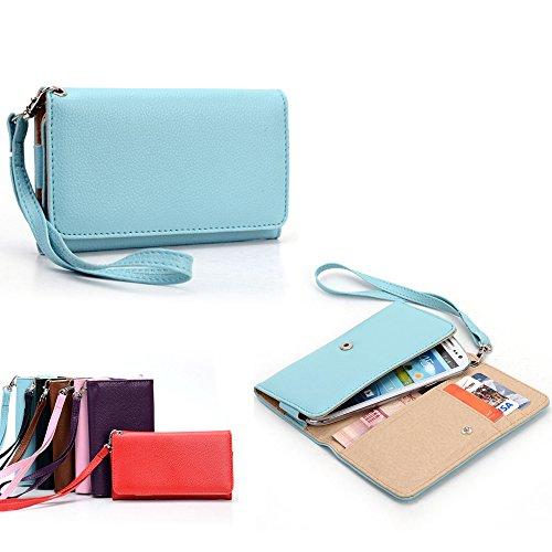 Universal Ladies Wristlet Wallet : Straight Talk Huawei H883G Windows In Baby Blue front-1068390