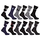 Clearance Special Offer: Mens Premium Quality Combed Cotton Casual Argyle Pattern Socks (Pack of 12)