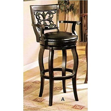 Upholstered Kitchen Swivel Bar And Counter Stools With