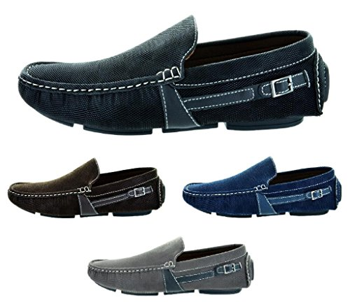Bruno HOMME MODA ITALY KENNETH Men's Classy On The Go Driving Casual Loafers Boat shoes