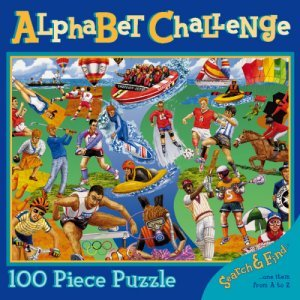 Alphabet Challenge Search & Find 100pc Puzzle - Sports - 1