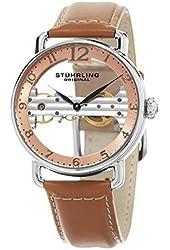 Stuhrling Original Men's Mechanical Skeletonized Bridge Dress Watch GP15666