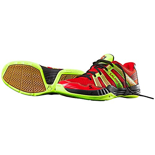 SALMING R3 3.0 Scarpa da Indoor Junior, Rosso, 37