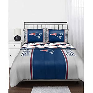 Nfl New England Patriots Bedding Set Full Sports Fan Bed In A Bag Sports