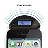 Apollo23 - Wireless FM Transmitter Car Audio For Apple IPhone 5 IPod MP3 Samsung HTC Smartphones Chrome Border...