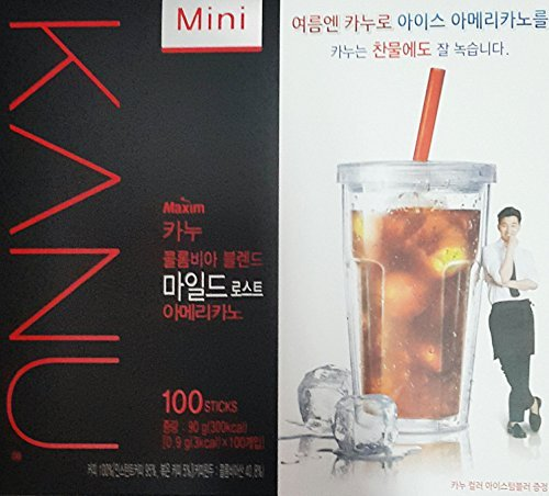 maxim-kanu-mini-medium-roasted-instant-americano-coffee-09g003oz-100-sticks-with-free-giftmild-roast