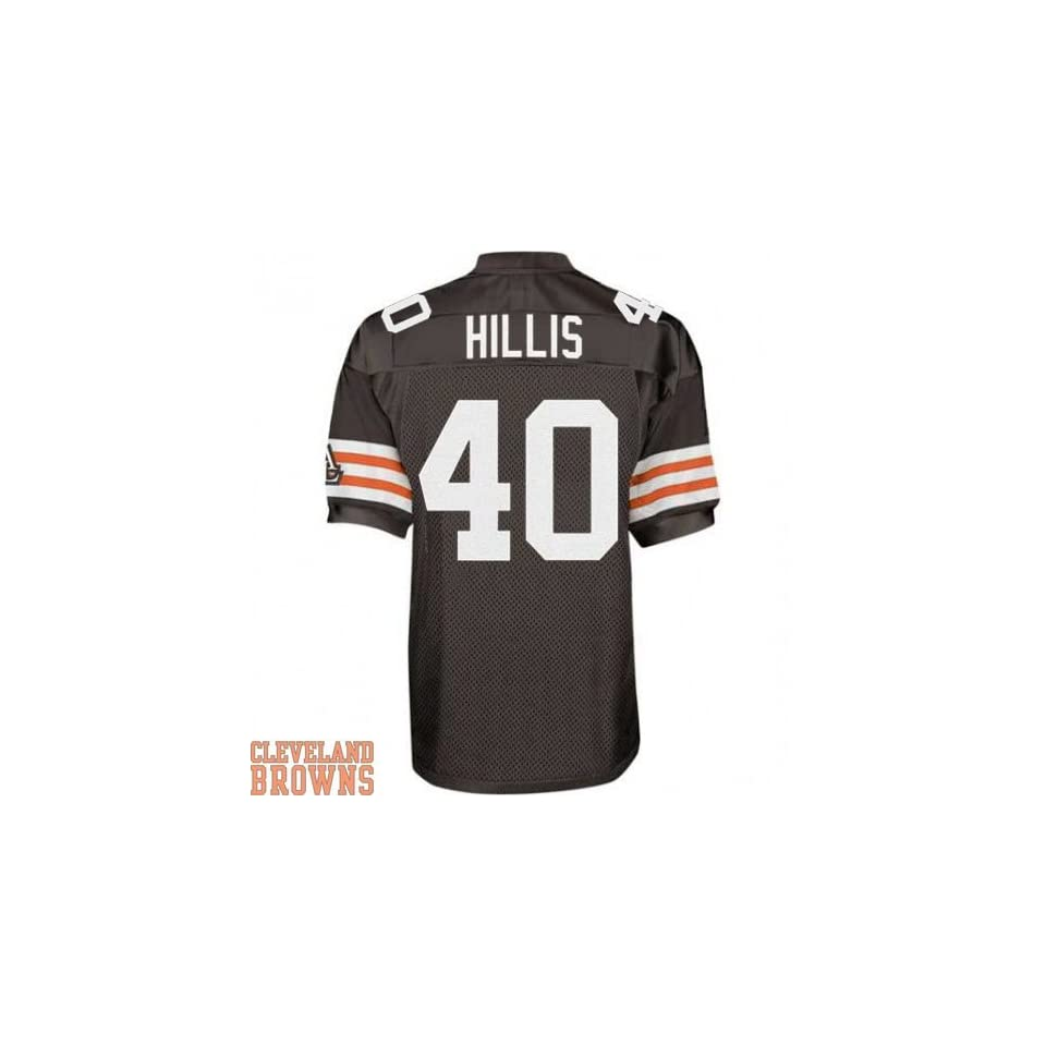 Cleveland Browns Jersey  40 Peyton Hillis Authentic Football Brown Jerseys  (XL 52) 188bef11f
