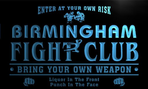 Qj2147-B Birmingham Fight Club Kung Fu Boxing Game Room Neon Beer Sign