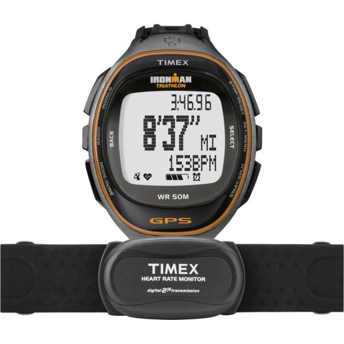 Timex Full-Size T5K575 Ironman Run Trainer GPS HRM Watch Running Gps