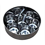 Authentic Stainless Steel Spice Container for Indian cooking (Masala Box)