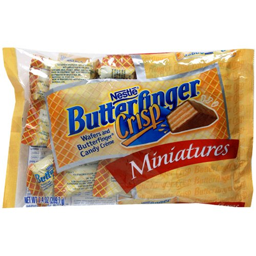 Buy Nestles Butterfinger Crisp Miniatures, 7.4-Ounce Bags (Pack of 12) (Nestle, Health & Personal Care, Products, Food & Snacks, Snacks Cookies & Candy, Candy)