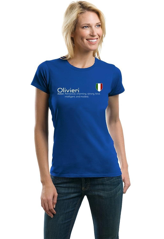 Olivieri Definition | Funny Italian Family Name Ladies' T-shirt lerro definition funny italian family name unisex t shirt