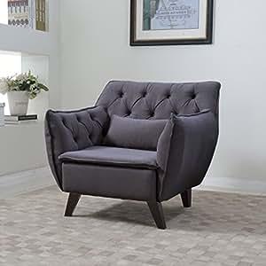 Amazon.com - Mid Century Modern Tufted Linen Fabric Living