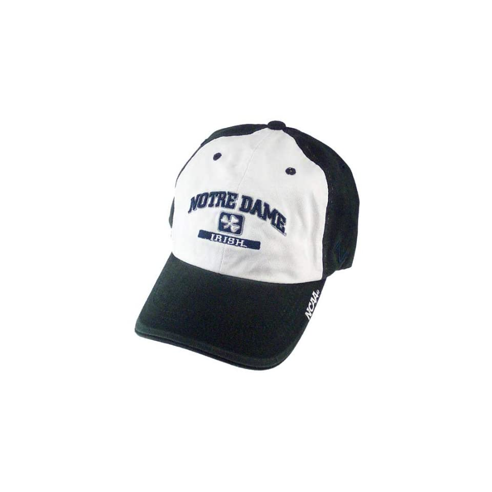 Zephyr Notre Dame Fighting Irish White & Green Slacker Hat