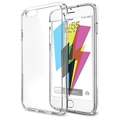 iPhone 6 Case, Flexion **Crystal Clear** [Guardian Series] Shock-Dispersion Technology [Scratch Resistant] Bumper Case with Ultra Clear Back Panel – Stylish ECO-Friendly Packaging – Ultra Slim Bumper for iPhone 6 (4.7)