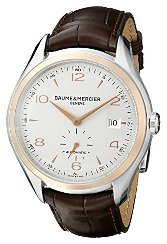 Baume et Mercier Clifton Automatic Silver Dial Brown Leather Mens Watch MOA10139